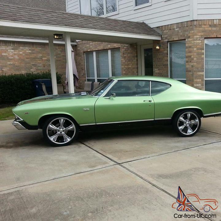 1969 Chevelle Malibu Retro Chevrolet V8 355 OEM Old School Hot Rod ...