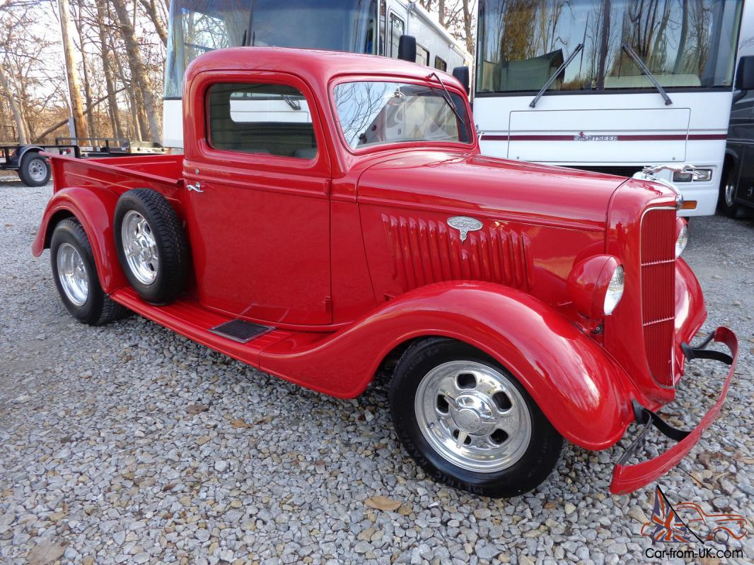 1935 ford pickup street rod a c and heat 350 chevy nice only 2700 miles. Black Bedroom Furniture Sets. Home Design Ideas