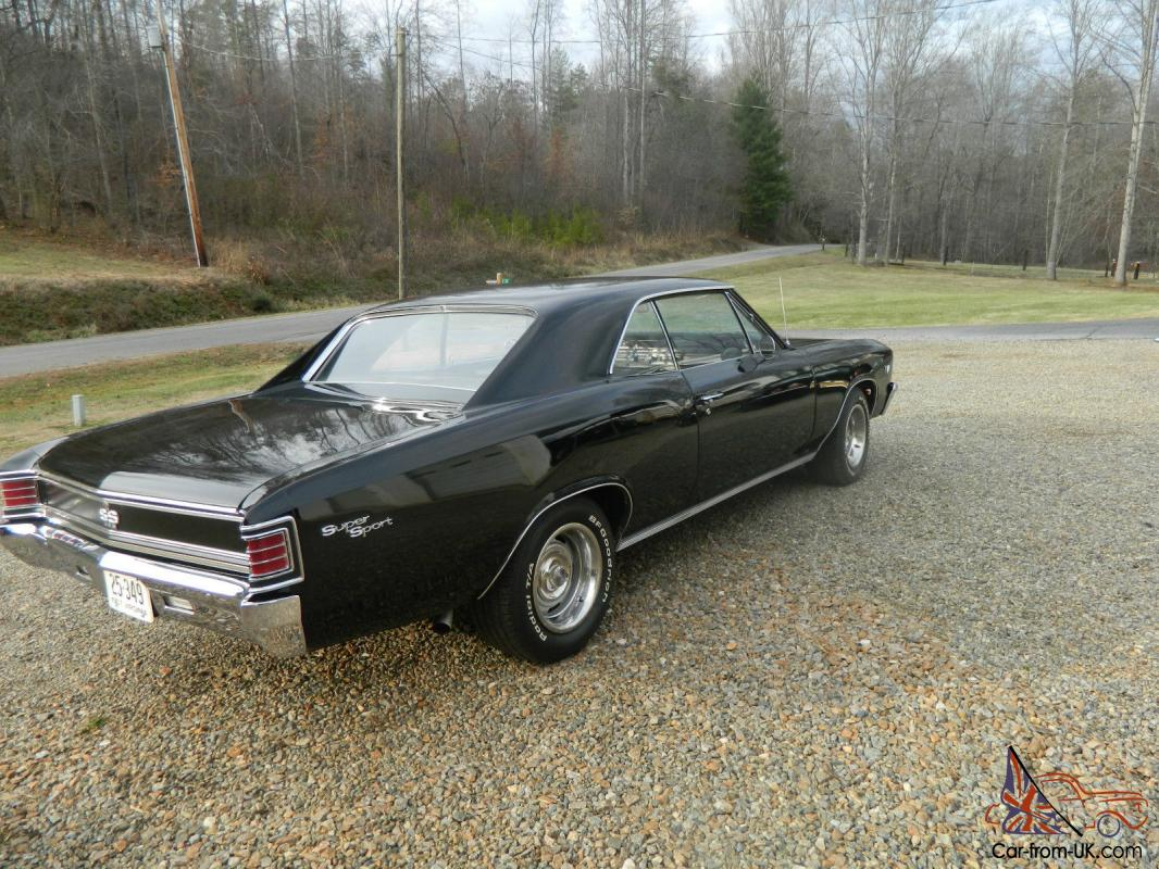 1967 chevelle ss clone, black on blacknew fresh big block 454 at NICE CAR