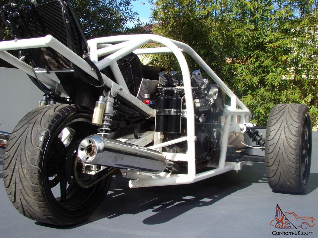 Custom Three Wheel Car With Kawasaki 200hp Engine In