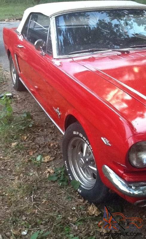 1965 mustang convertible 64 1 2 289 v8 looks runs great matching d code auto. Black Bedroom Furniture Sets. Home Design Ideas