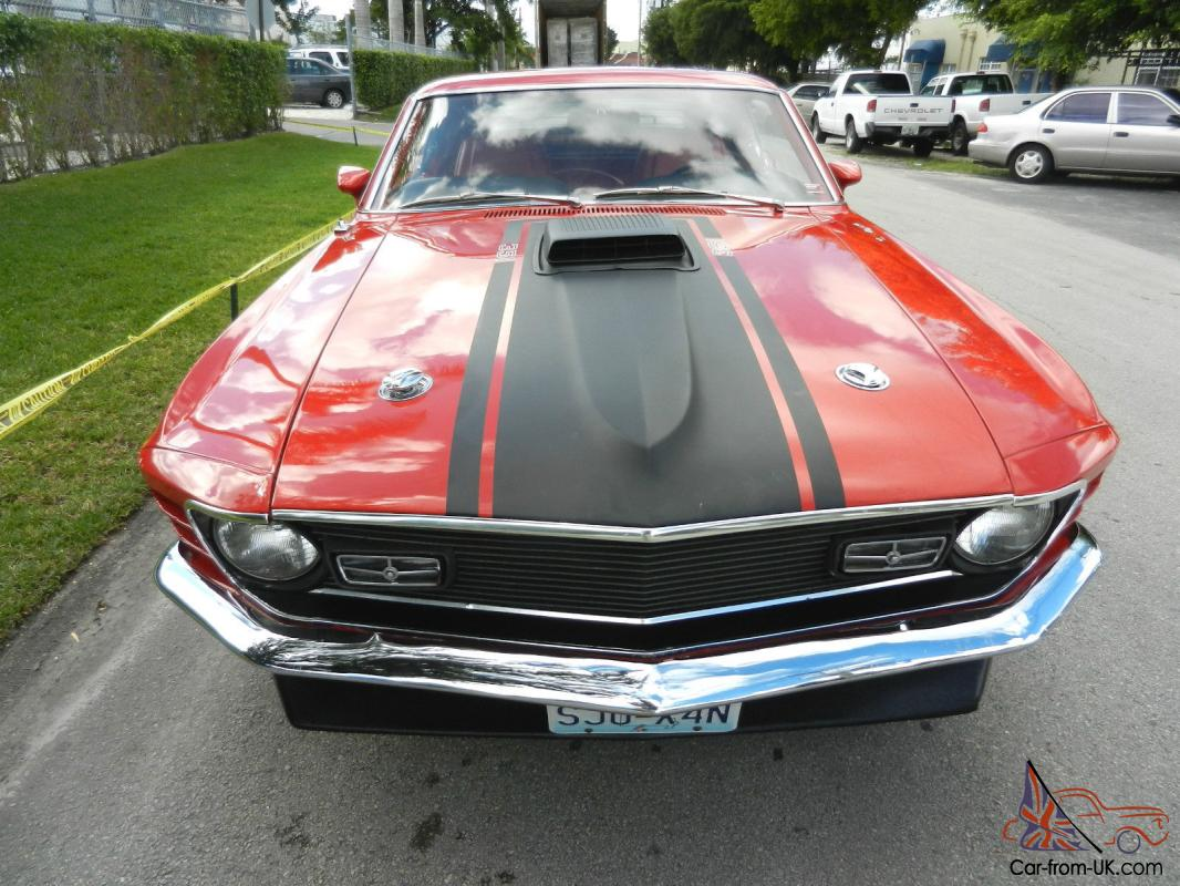 Awesome and rare 1970 ford mustang mach 1 351 h code shaker hood 4 speed