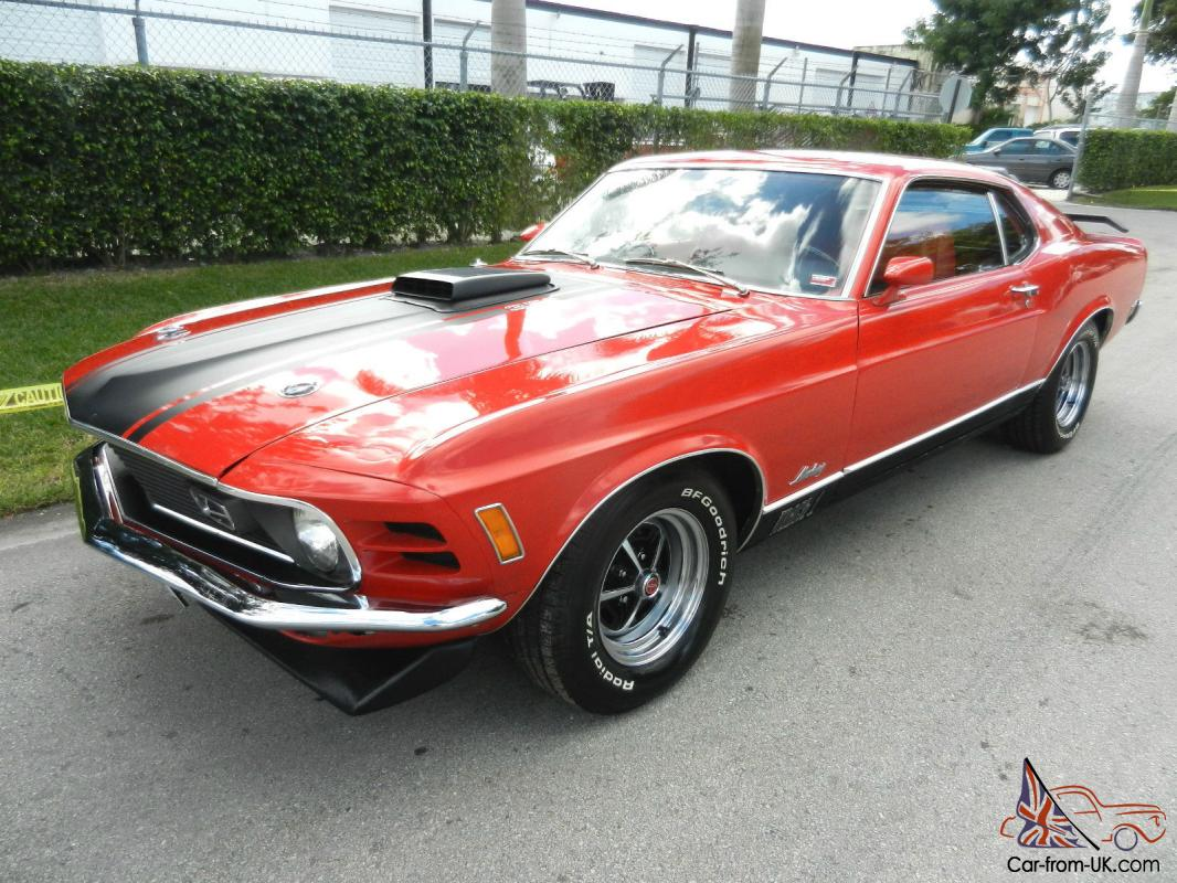 Awesome And Rare 1970 Ford Mustang Mach 1 351 H Code