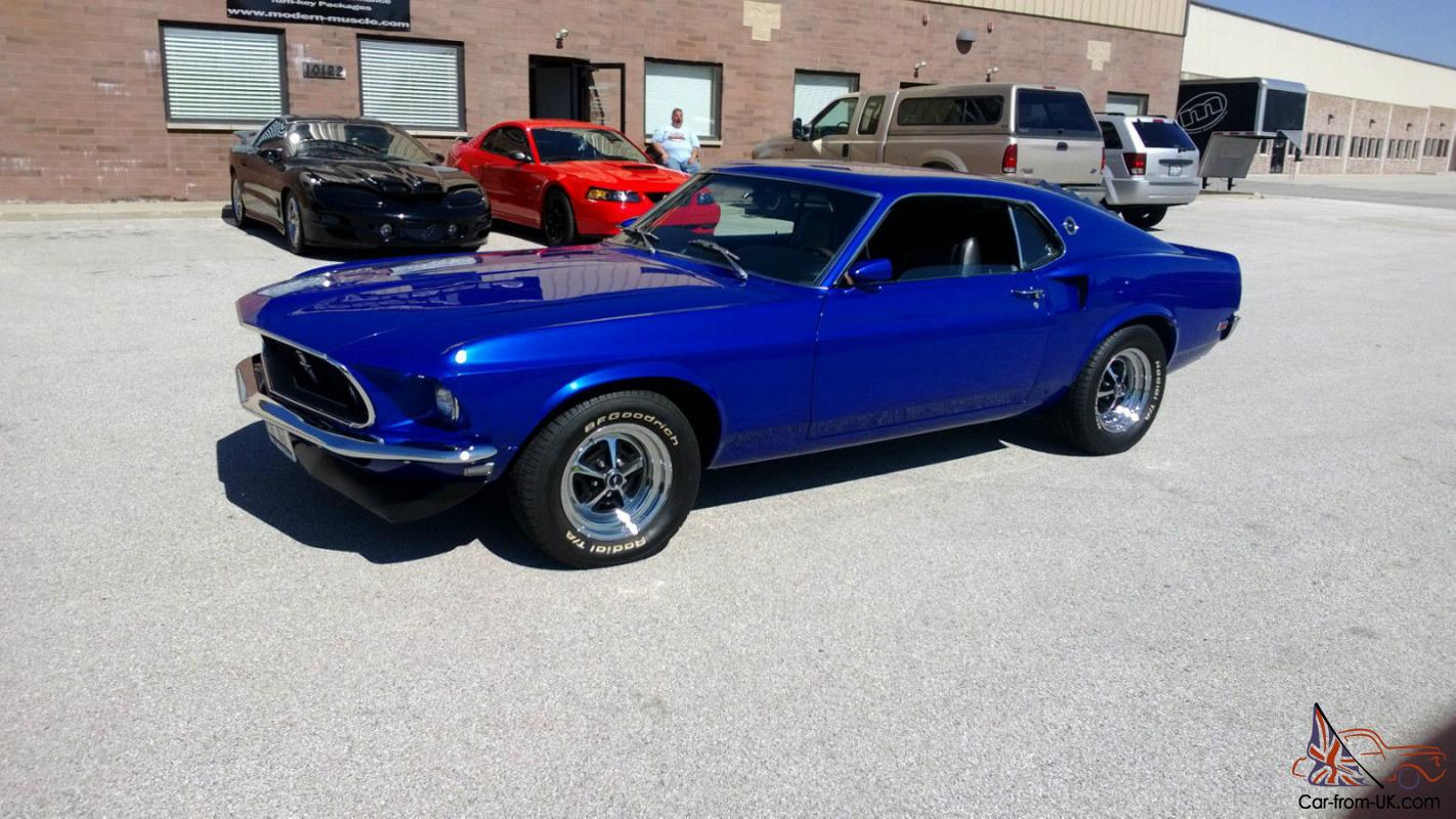1969 Ford Mustang Fastback Sportsroof 351 Windsor Midnight Blue 1964