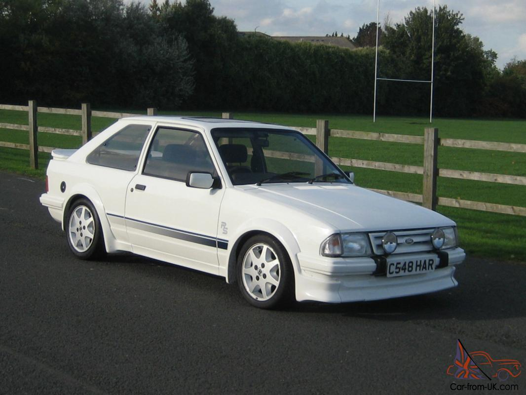 1985 Ford Escort Rs Turbo White Series 1 Only 69000 Miles