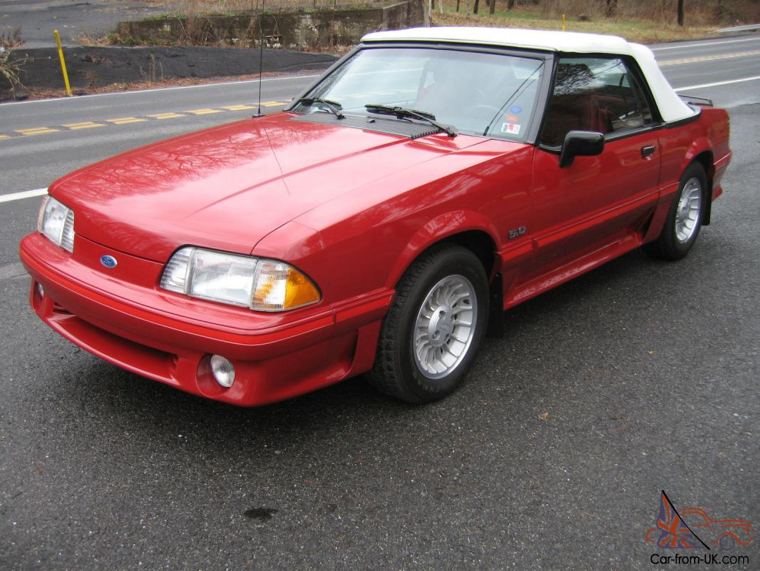 1988 ford mustang gt convertible 8k miles v 8 5 0l clean auto check photo