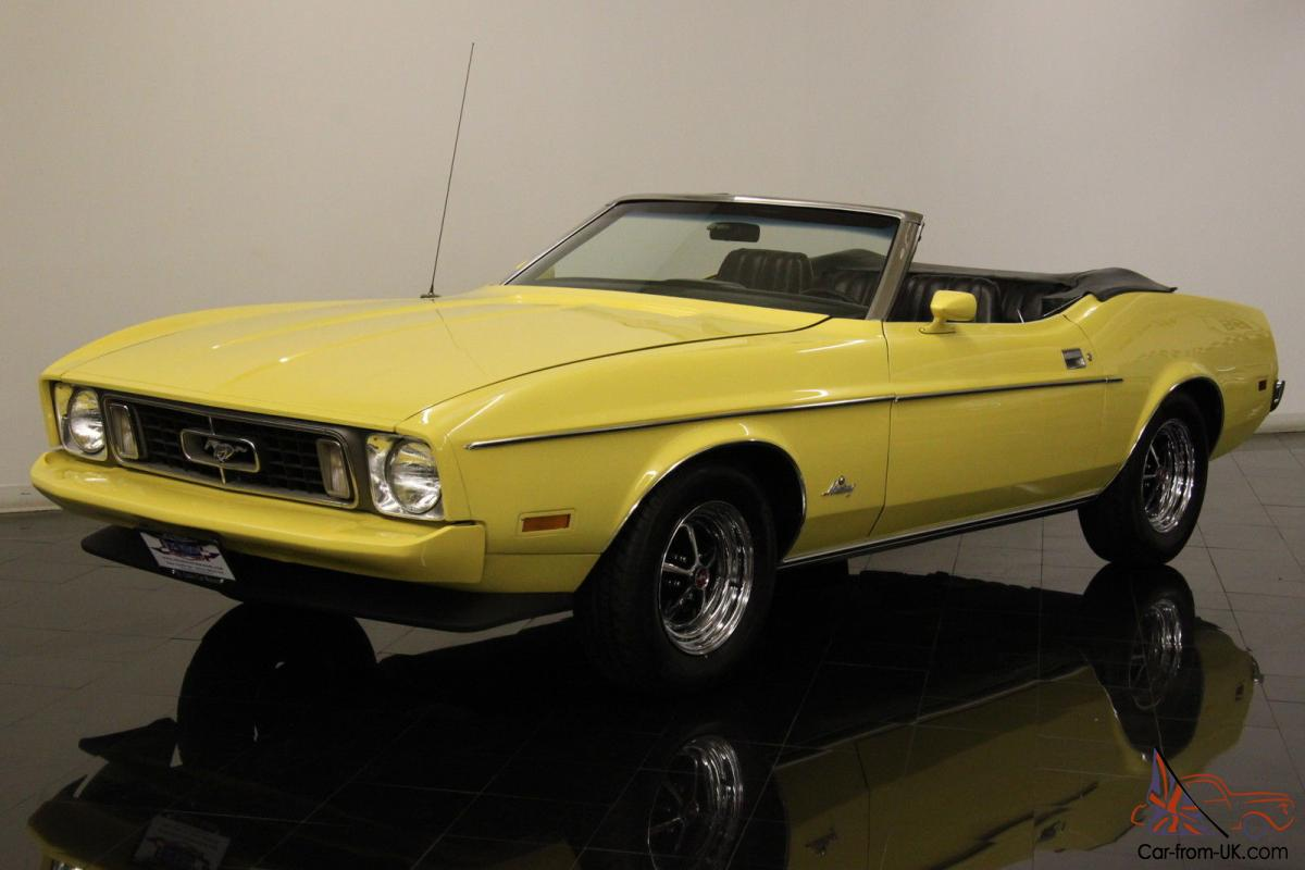 1973 ford mustang q code convertible 351ci v8 4 speed rare final year ac