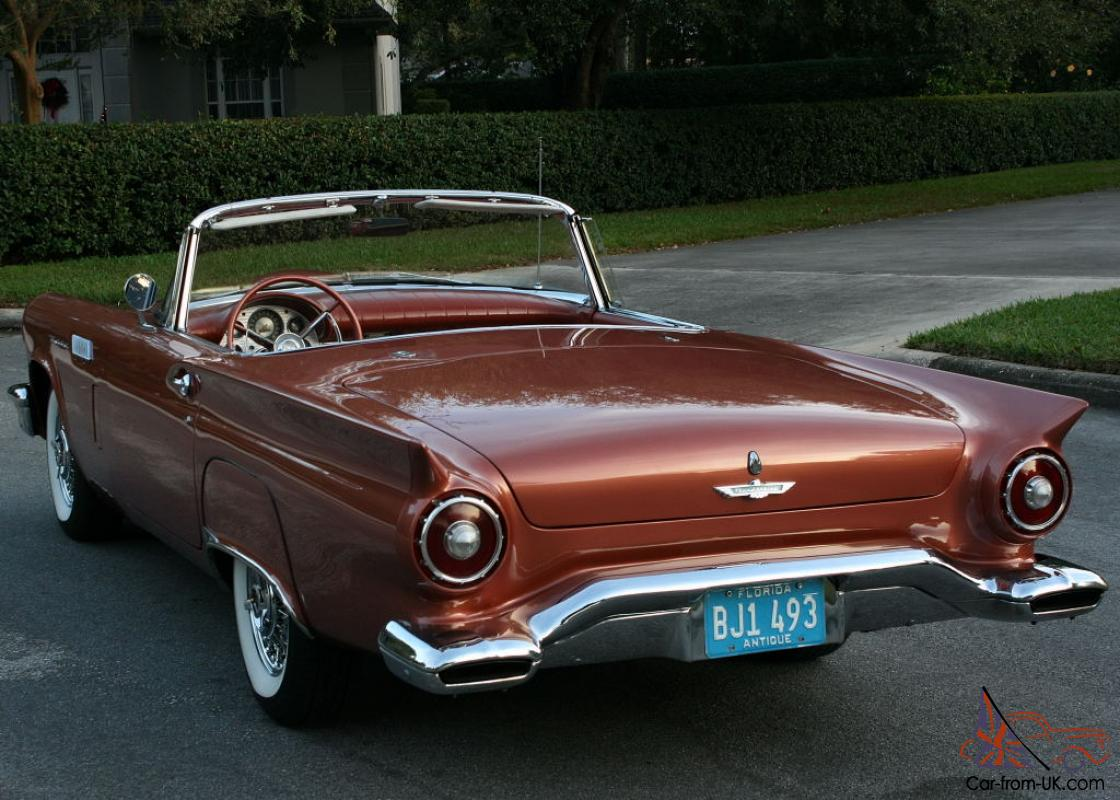 beautifully restored 1957 ford thunderbird convertible 1k miles. Black Bedroom Furniture Sets. Home Design Ideas