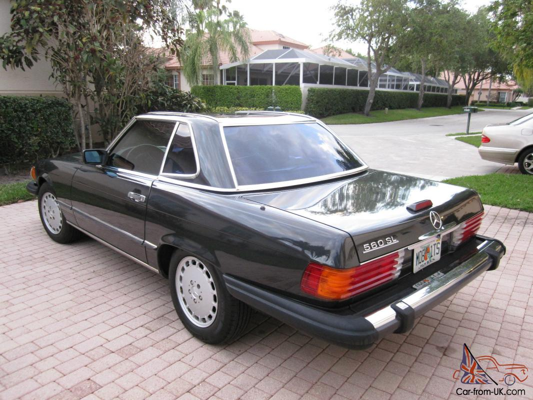 1988 mercedes benz 560sl original owner charcoal gray