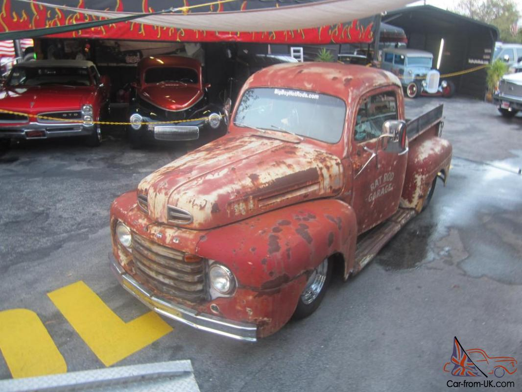 FORD F1 RAT ROD OLD SCHOOL PICK UP S10 FRAME RUNS GREAT MAKE OFFER ...