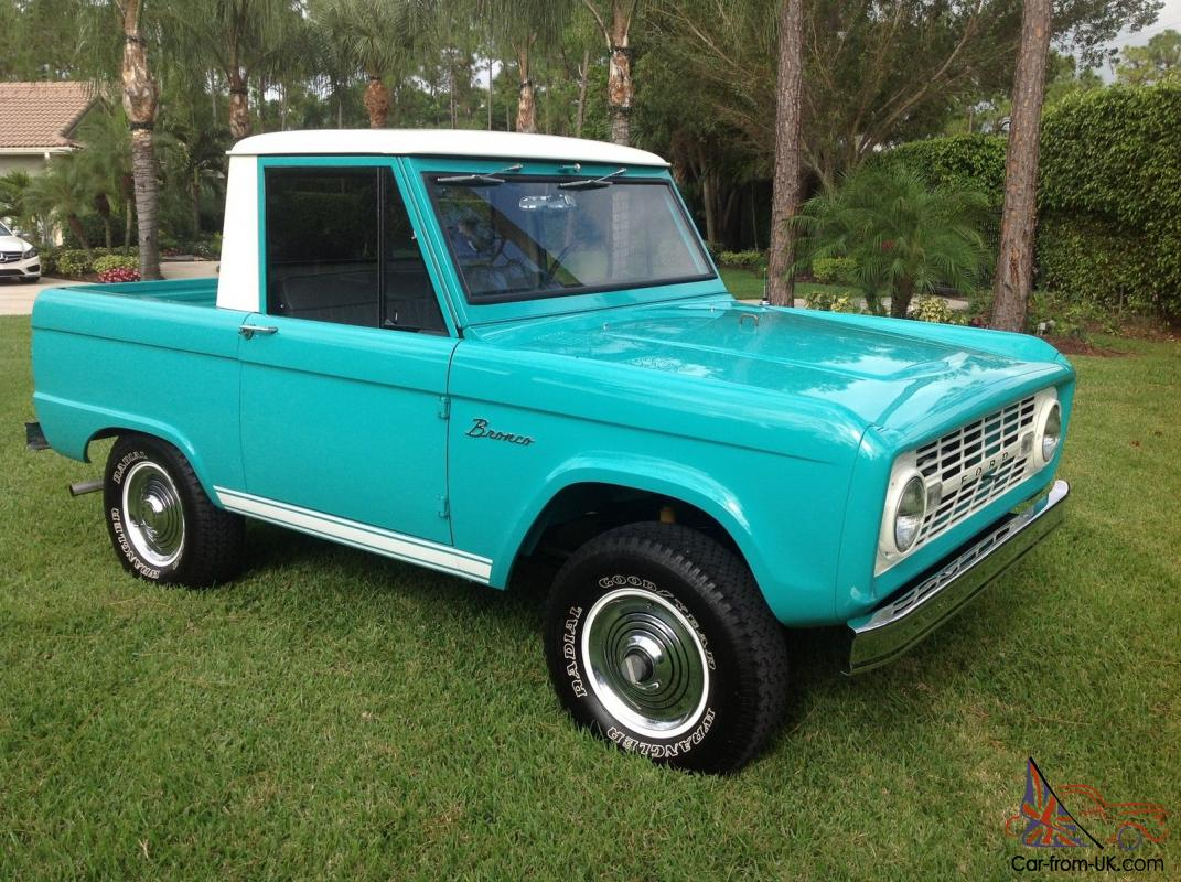 1966 ford bronco half cab complete nut and bolt restoration the finest. Black Bedroom Furniture Sets. Home Design Ideas