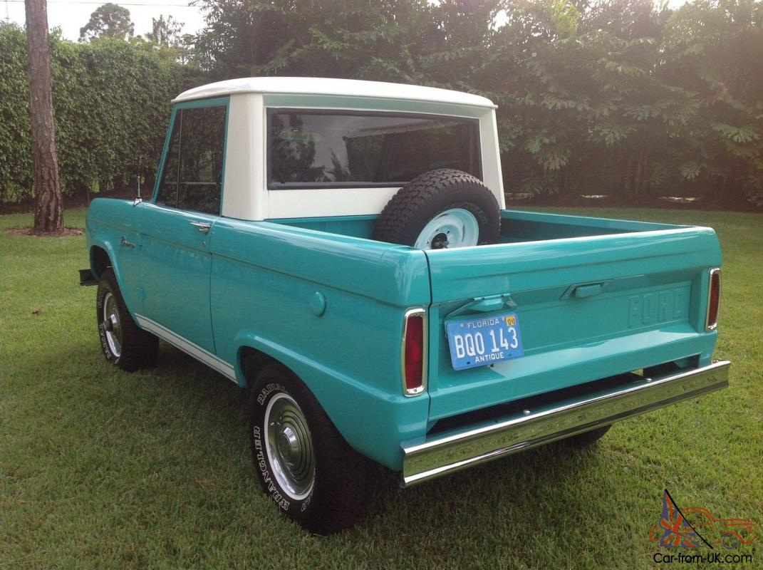 1966 Ford Bronco Half Cab Complete Nut And Bolt Restoration The Finest