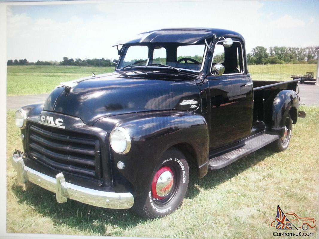 pickup truck 1950 gmc 5 window almost all original 56 000 original miles. Black Bedroom Furniture Sets. Home Design Ideas