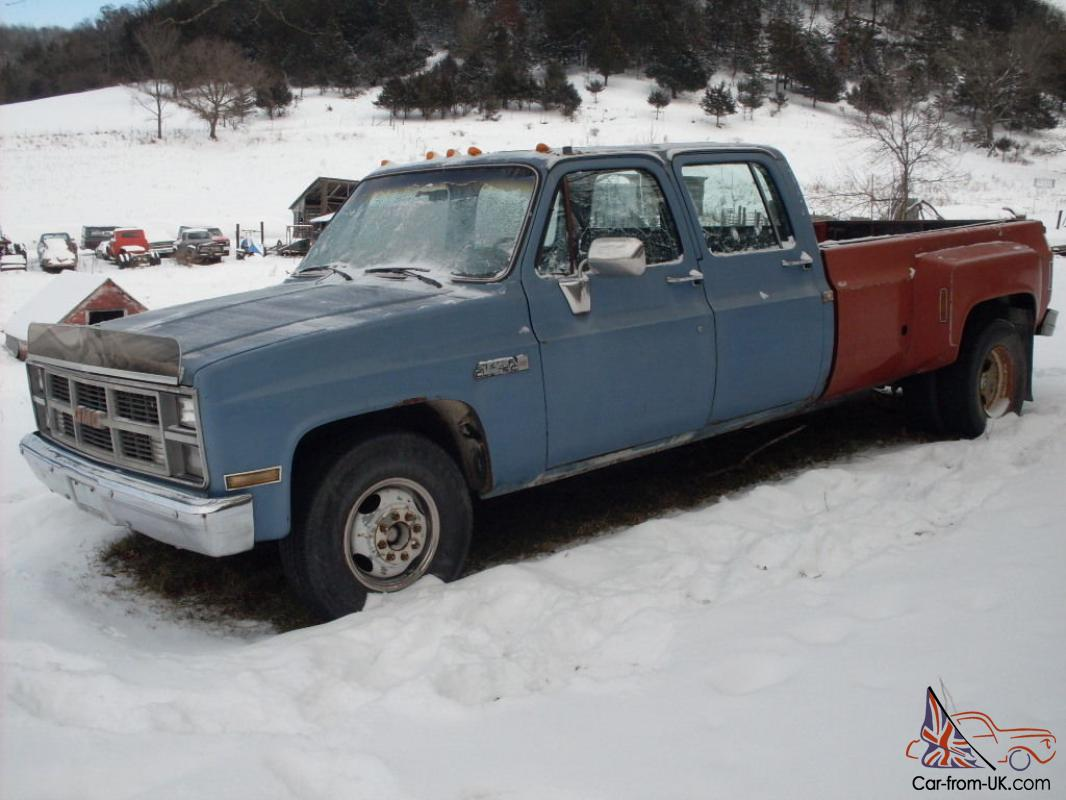 1985 GMC Chevy Dually Sierra 3500 Pickup Truck-Gasoline- RUNS GREAT!