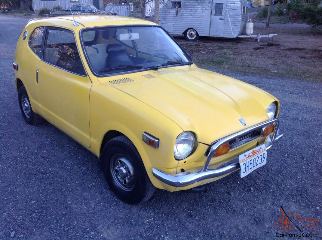 1972 honda 600 coupe yellow rebuilt engine runs well good condition current reg. Black Bedroom Furniture Sets. Home Design Ideas
