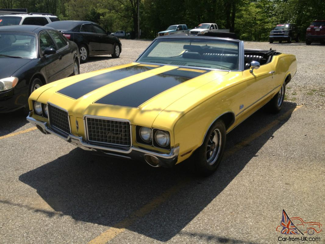1972 OLDSMOBILE CUTLASS CONVERTIBLE NUMBERS MATCHING ALL ...