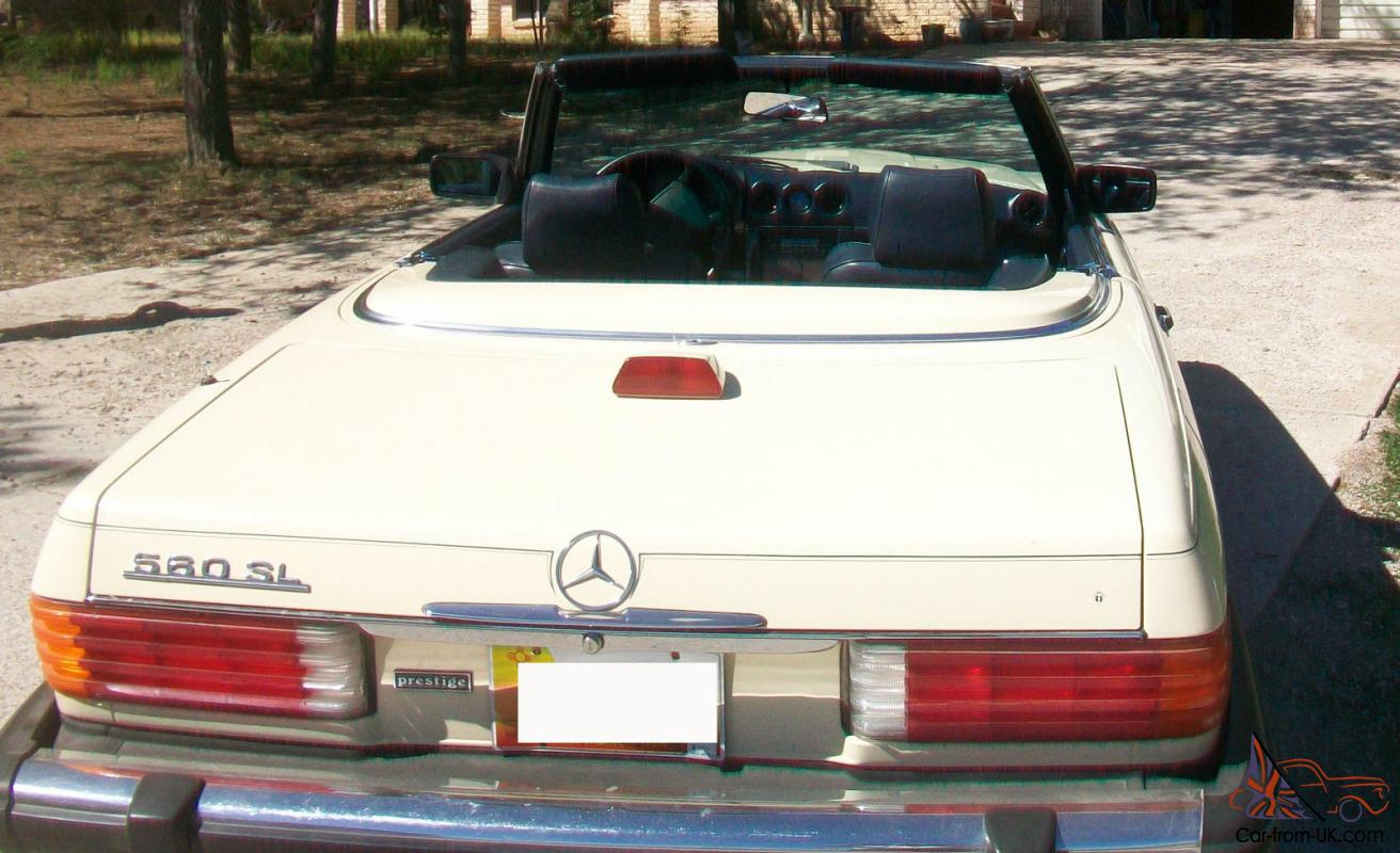 1987 Mercedes Benz 560sl Coupe With Hard And Soft Top Ivory Fuel Filter Blue Interior
