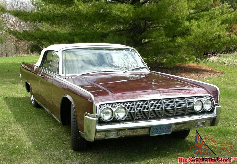 Rare Survivor 1964 64 Lincoln Continental Convertible V8
