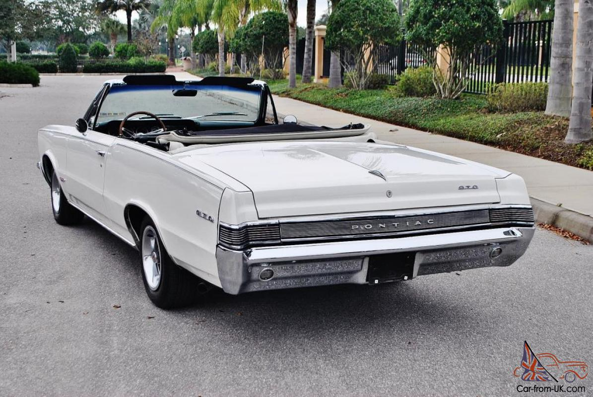 1965 pontiac gto convertible rh car from uk com