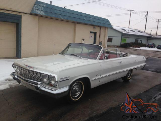 2 Owner 1963 Chevy Impala Convertible Matching 58 59 60 61 62 64