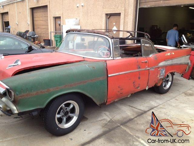 3 Car Package 1957 Chevy Bel Air Convertible 57 2 Dr