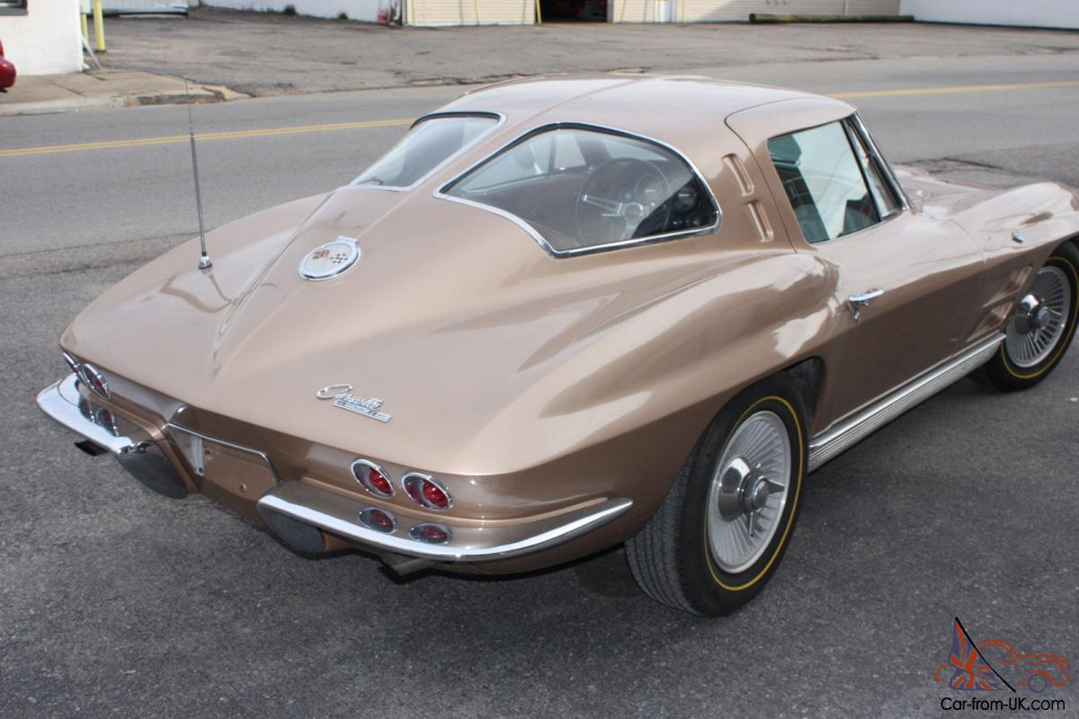 1963 split window coupe corvette matching numbers