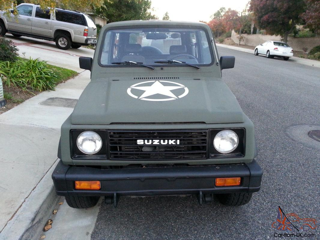 1987 suzuki samurai jx 4x4 tin top with air conditioning