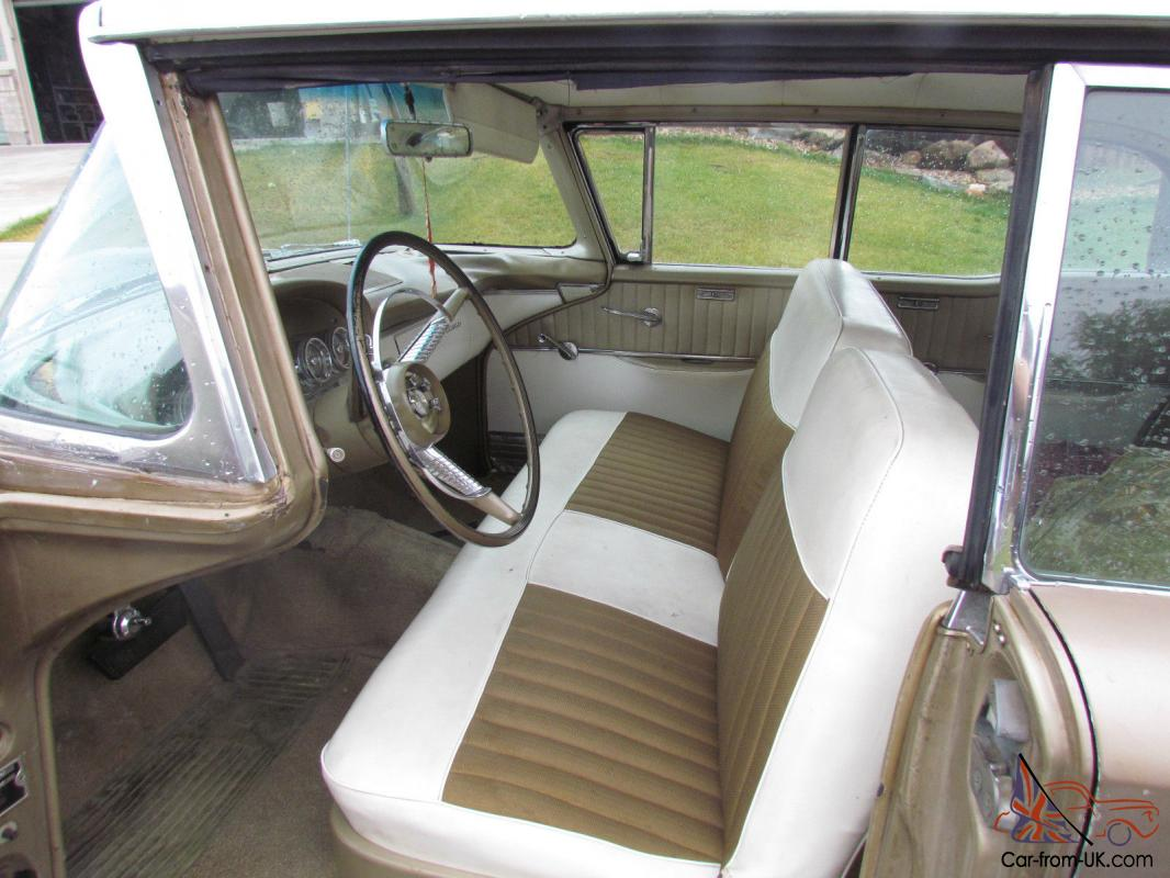 Classic 1959 Edsel Ranger Two Tone Chrome Bench Seats
