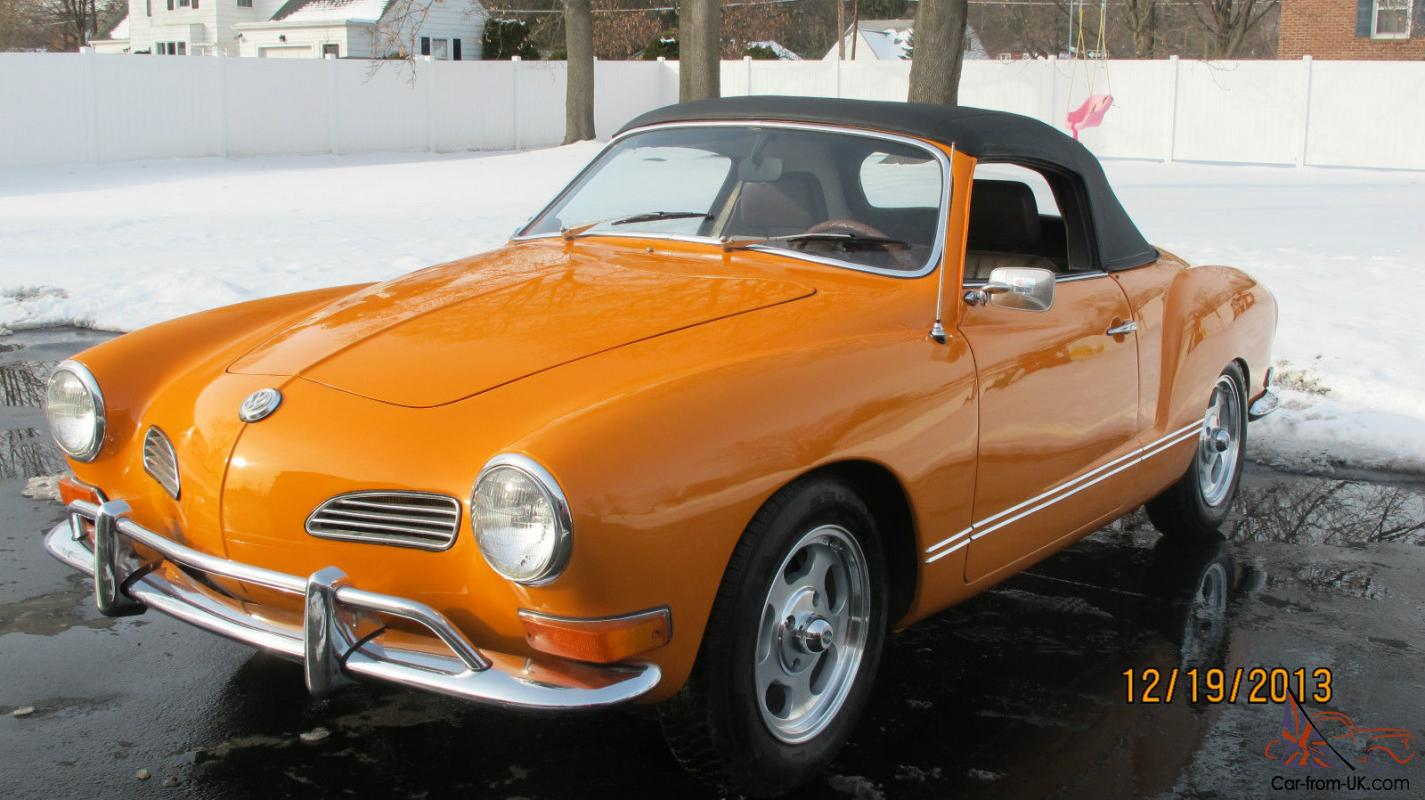 1971 volkswagen karmann ghia convertible low miles. Black Bedroom Furniture Sets. Home Design Ideas
