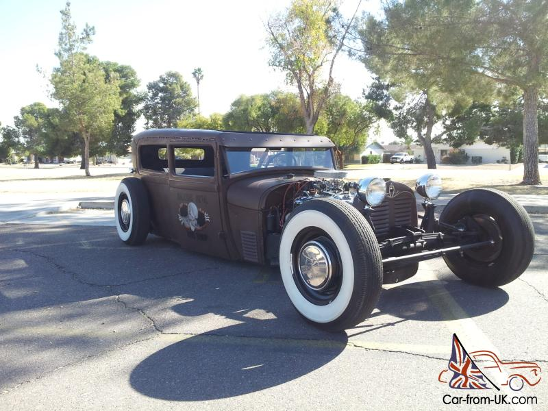FORD MODEL A TUDOR - RAT ROD STYLE HOT ROD SEDAN - CHOPPED, BAGGED ...