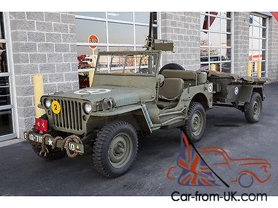 1946 willys cj2 jeep military replica with trailer tons of accessories. Black Bedroom Furniture Sets. Home Design Ideas