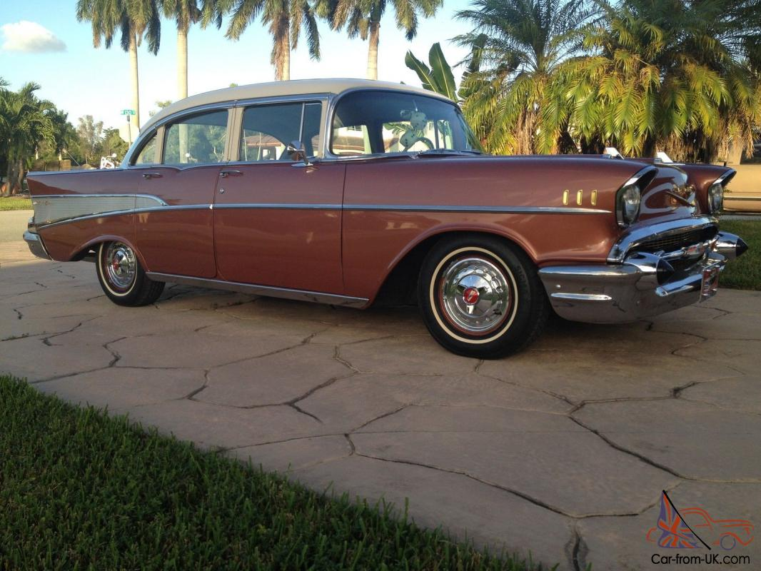 1957 chevrolet bel air v 8 283 4 door sedan for 1957 chevy 4 door sedan
