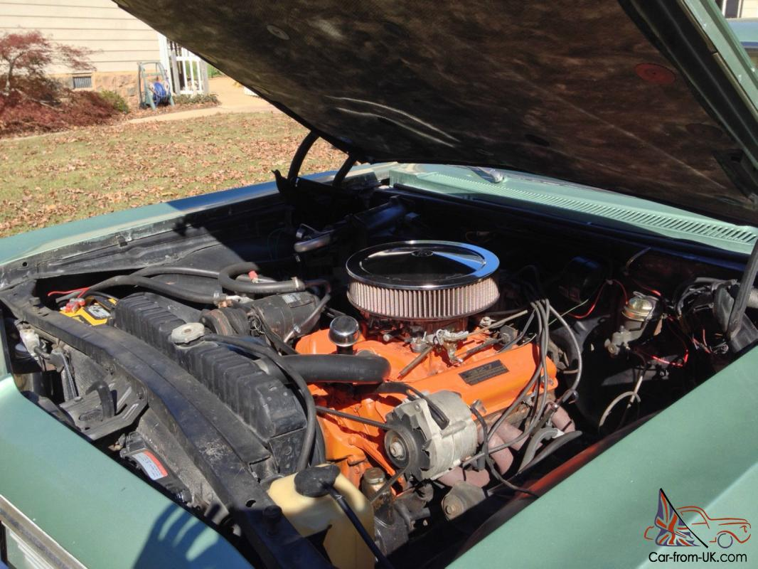 1966 Chevy Impala Ss Willow Green Engine