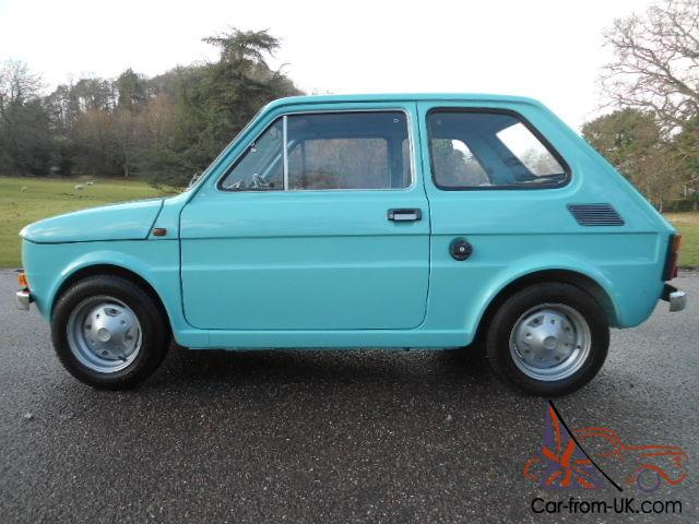 fiat 126 500 turquoise 1974 very early. Black Bedroom Furniture Sets. Home Design Ideas