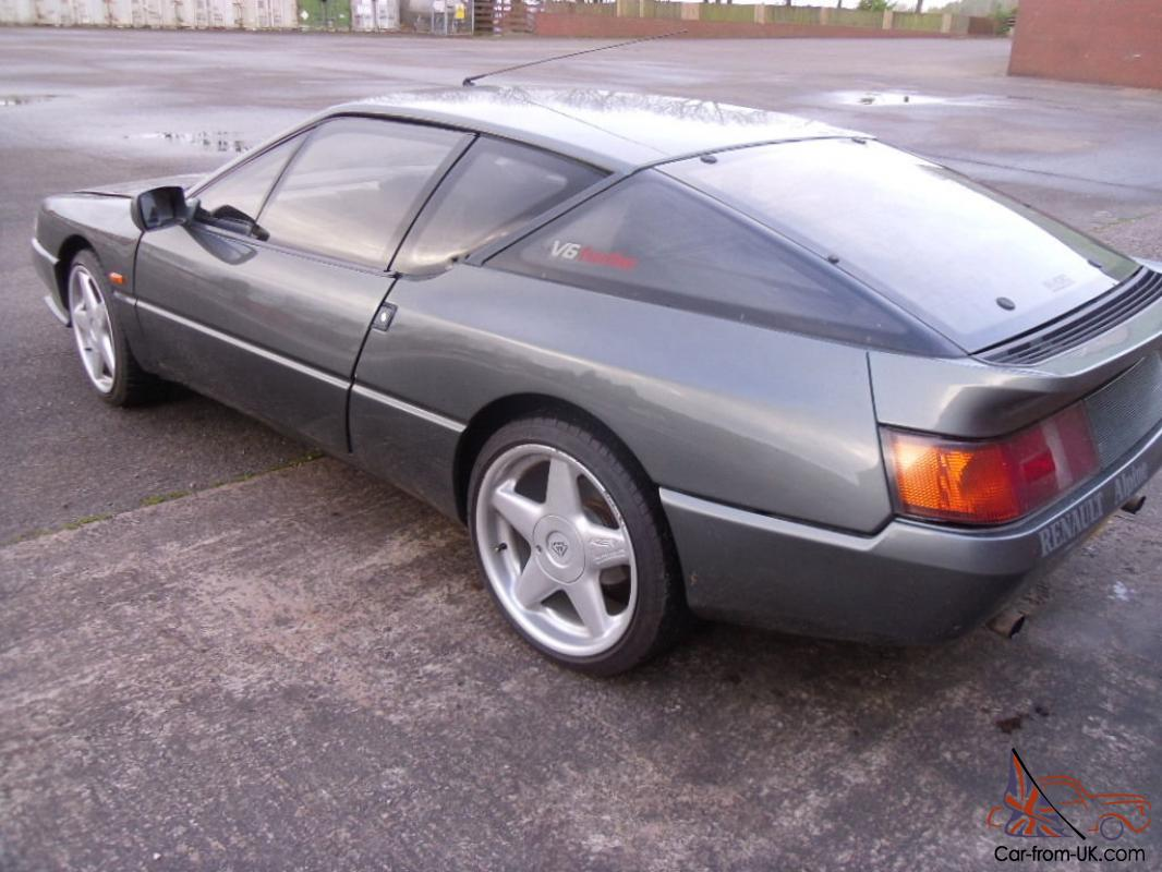 1989 renault alpine gta v6 turbo grey avez 17 alloy wheels 12 months mot. Black Bedroom Furniture Sets. Home Design Ideas