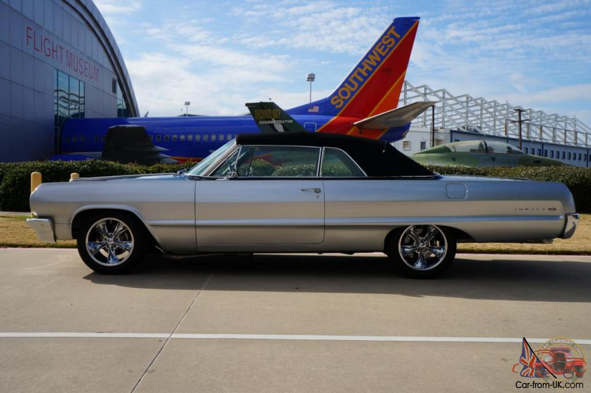 1964 chevy impala ss resto mod convertible street machine for sale