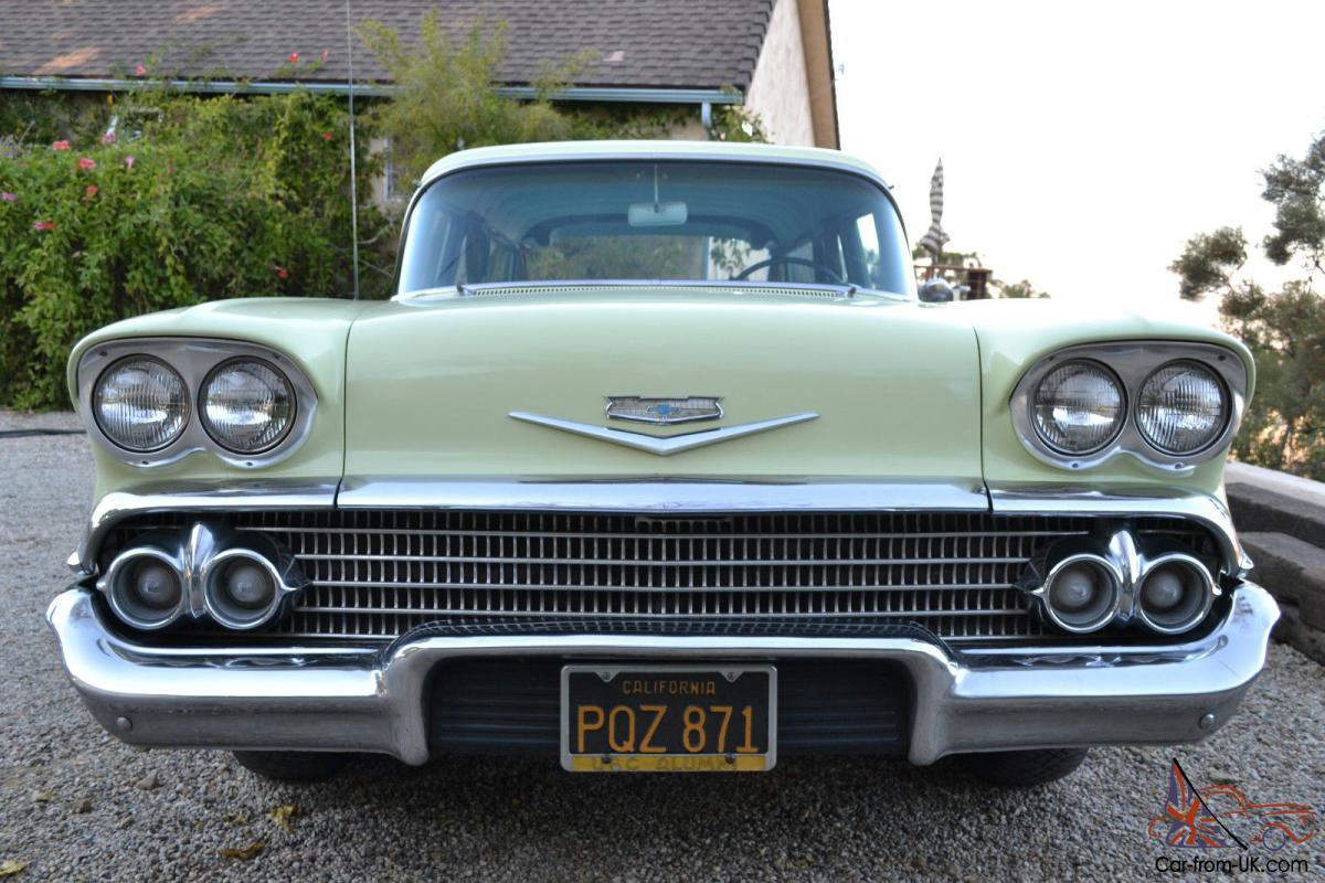 1958 chevrolet station wagon great original two owner california car. Black Bedroom Furniture Sets. Home Design Ideas