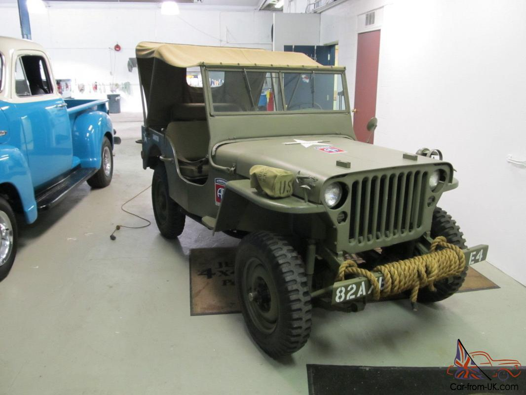 1944 willys mb jeep fully restored ww2 jeep gpw. Black Bedroom Furniture Sets. Home Design Ideas