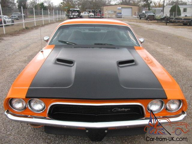 1973 dodge challenger 340 rallye hp340 roller 727 3 91 orange black fast n fun. Black Bedroom Furniture Sets. Home Design Ideas