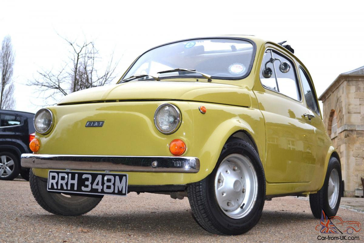 1974 fiat 500 lhd yellow lovely example mot tax full power 126 bis engine. Black Bedroom Furniture Sets. Home Design Ideas