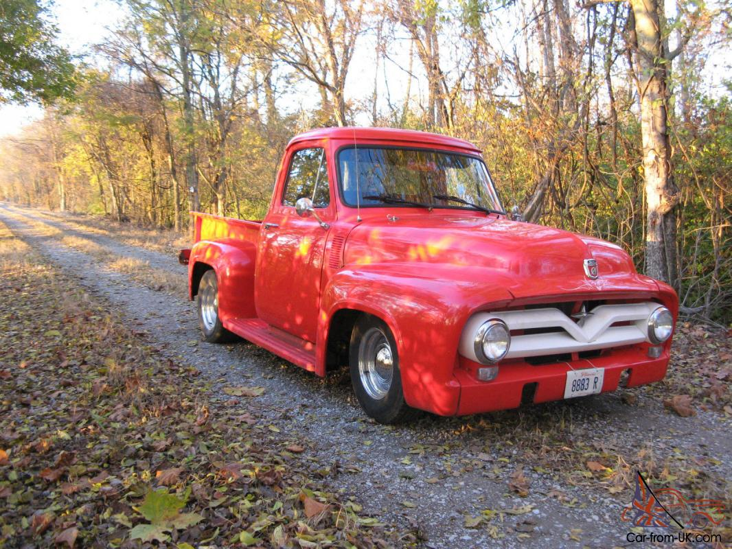 1955 Ford F 100 Hot Rod Custom Pick Up Truck Santa Claus Red F100 Headliner For