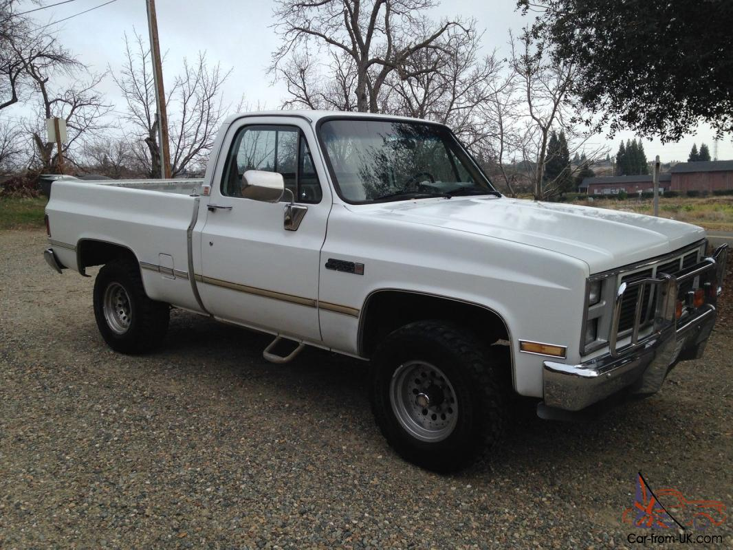1986 chevy short bed 4x4 rust free