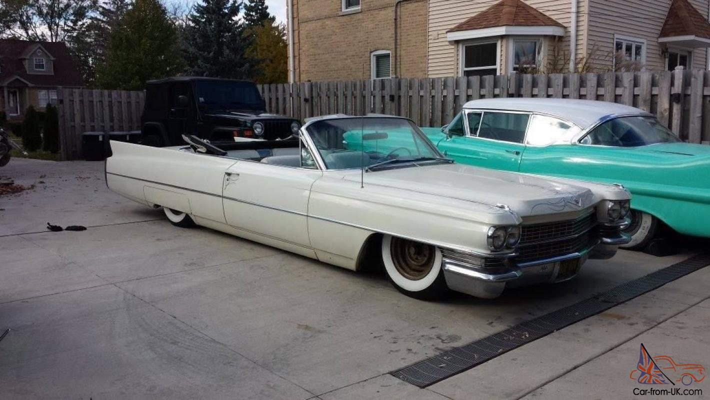 Bagged 1963 cadillac convertible