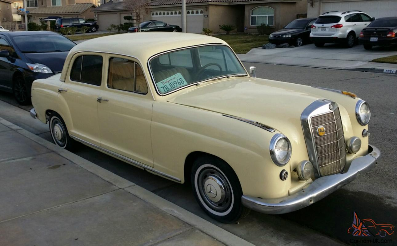 1958 mercedes benz 220s ponton for sale 169494 for 1958 mercedes benz 220s for sale