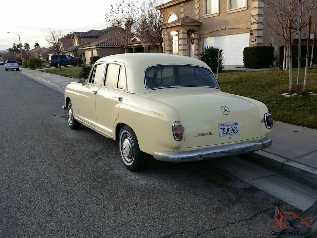1958 mercedes benz 220s ponton for 1958 mercedes benz 220s for sale