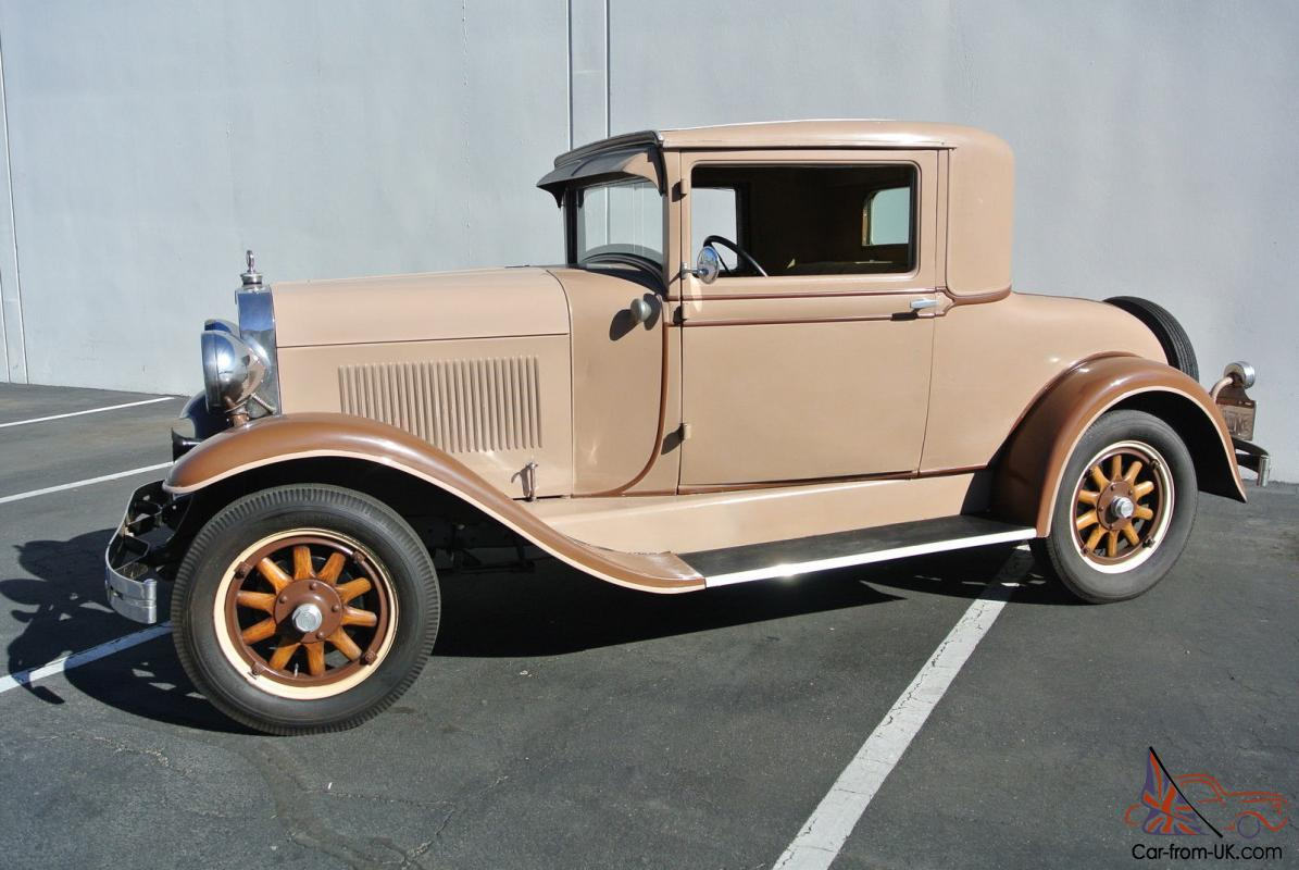 1929 olds 3 window coupe chevy motor