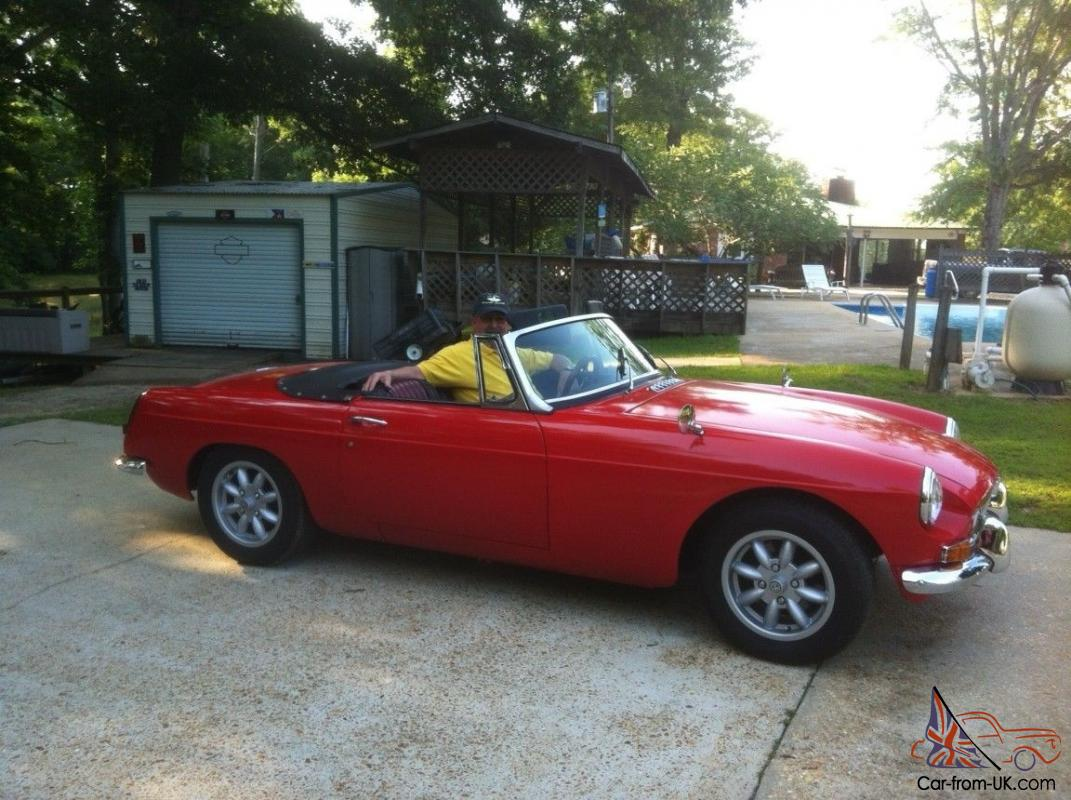 Red With Black Interior Convertible Completely Restored