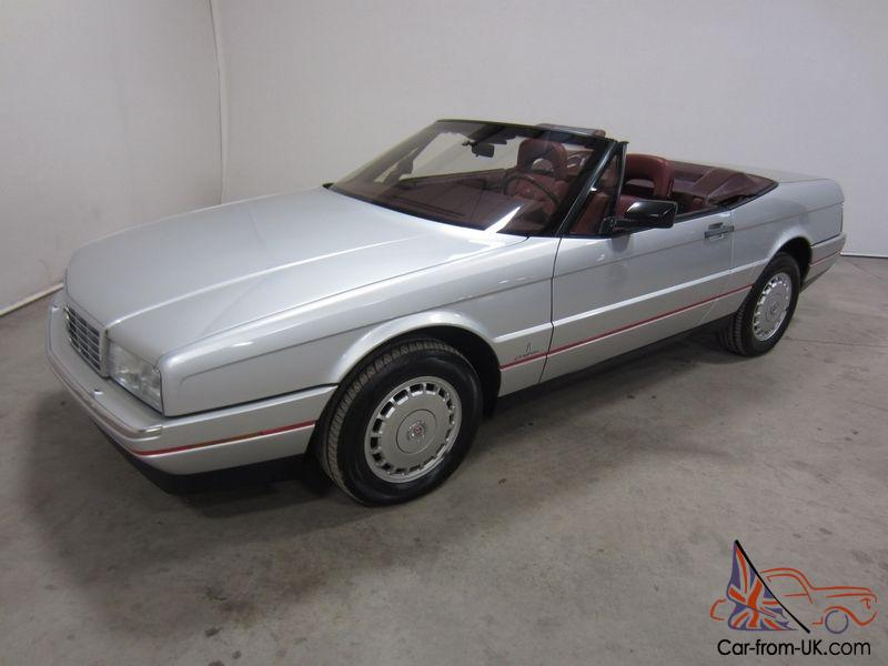 1987 CADILLAC ALLANTE CONVERTIBLE 4.1L V8 FWD LEATHER HARD TOP LOW