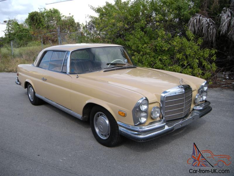 1971 Mercedes Benz 280se 3 5 Automatic With Sunroof Db906