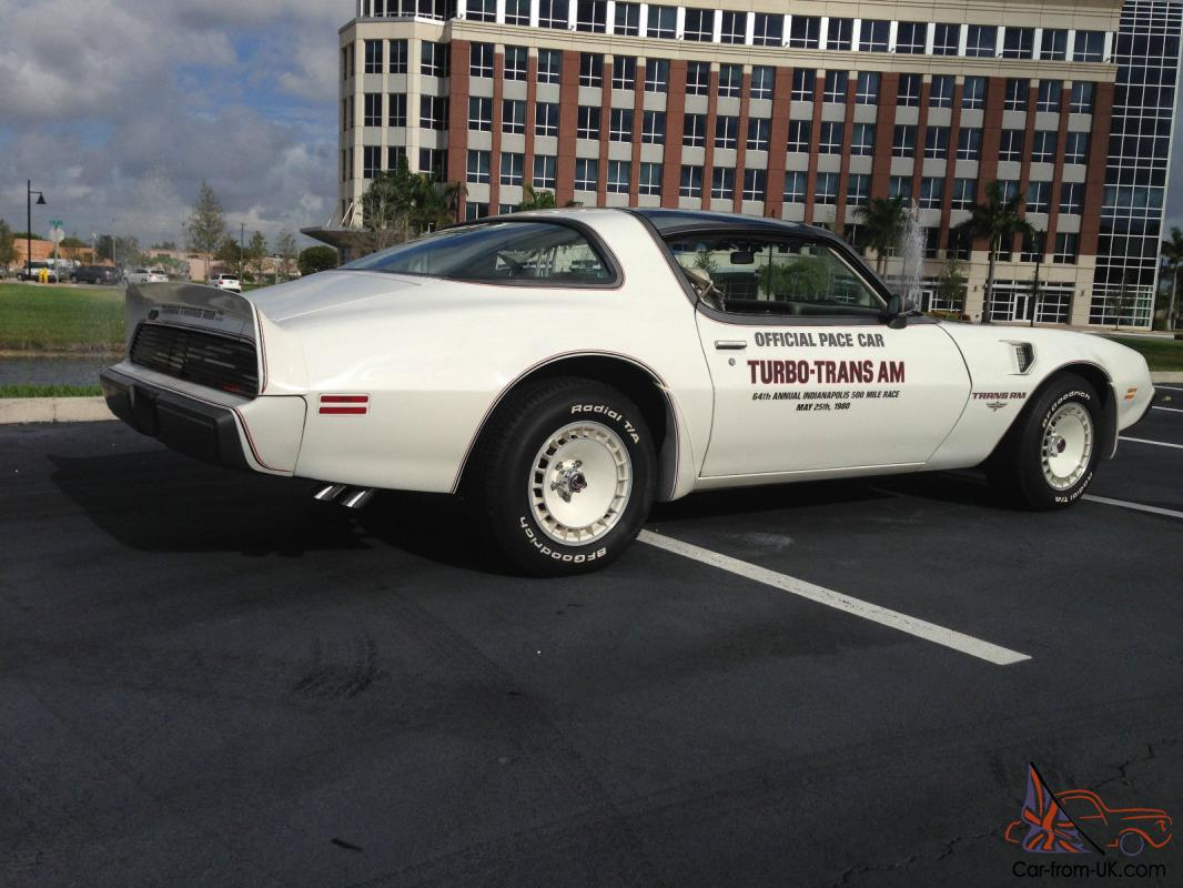 1980 Trans Am Indianapolis Pace Car 50 639 Original Miles